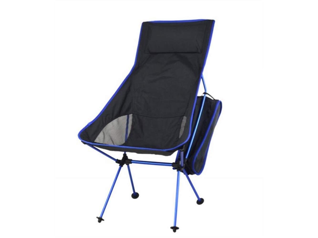 OHlive Faltbar Outdoor-Klapp Angeln Stuhl Liege Camping Stuhl Strand Liege für Camping und Angeln (Marineblau)
