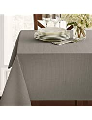"Benson Mills Textured Fabric Tablecloth (60"" x 84"" Rectangular, Grey)"