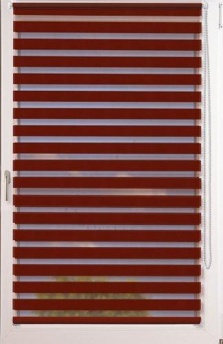 Doppelrollo Uni als Maßanfertigung  OHNE BOHREN  Farbe  bordeauxrot  Stoffbreite  101 bis 110cm x Höhe bis 150 cm B007LXF590 Seitenzug- & Springrollos