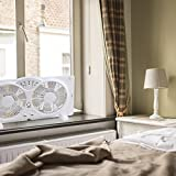 Genesis Twin Window Fan with 9 Inch Blades, High