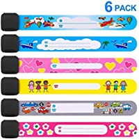 Safety Wristband, 2018 6 PCS Mix Colors Safety Armband Waterproof Safety ID Bracelet Reusable SOS Bracelet for Babies Boys Girls Old Man