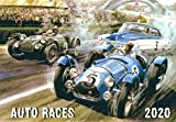 """2020 Wall Calendar [12 pages 8""""x11""""] Auto Races"""