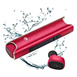 Wireless Bluetooth Earbuds, HiOrange True Wireless Headphones, Waterproof Mini Sport Car Headsets in-Ear Noise Cancelling with Built-in Mic and Charging Case(Red)