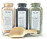 LIVE BY BEING Bath Salt Spa Gift Set Collection – All-Natural, Vegan, Handmade, Organic Essential Oils for Mus
