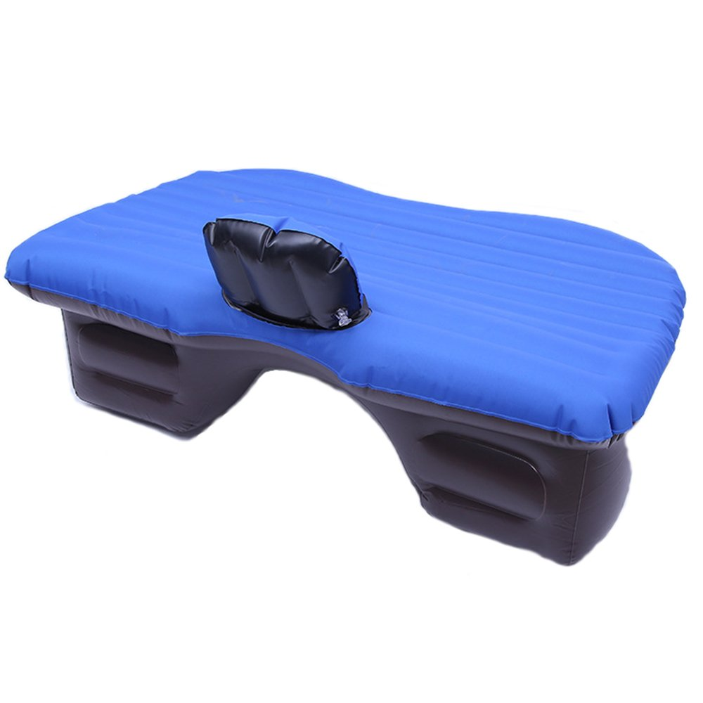 QEL Auto Reisebett Split Design mit Luftpumpe für Reisen und Fahren Ermüdung Nachdem Rest mit Blau