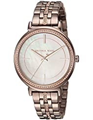Michael Kors Womens Cinthia Quartz Stainless Steel Casual Watch, Color:Brown (Model: MK3737)