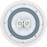 OSD Audio ICE800TTWRS 8-Inch 150 Watts Weather Resistant Stereo Ceiling Speaker (White, Single)