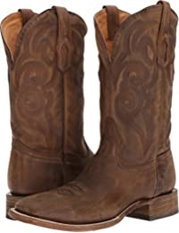 Corral Boot Men's Distressed Leather Embroidery Comfort System Square Toe Golden Western Boot