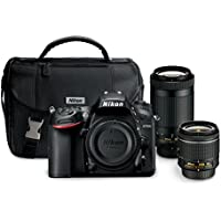 Nikon D7200 24.2 MP Dual Zoom Lens Kit with 3.2' LCD, Black