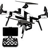MightySkins Protective Vinyl Skin Decal for 3DR Solo Drone Quadcopter wrap cover sticker skins Black Chevron