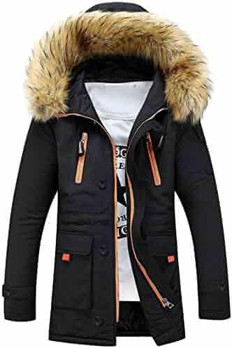 Ximandi Winter Women Men Outdoor Fur Wool Fleece Warm Jacket Hooded Long Coat Track & Active Jackets