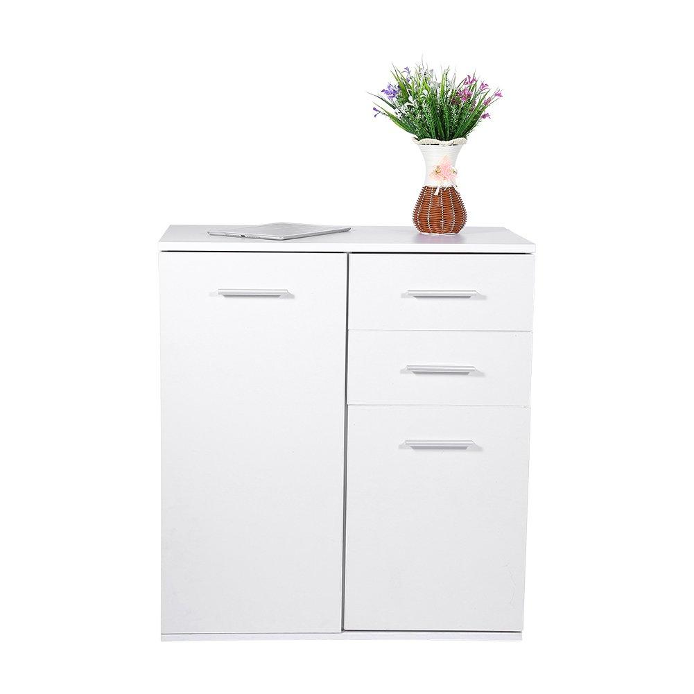 Cocoarm Schuhschrank Badezimmer Schrank Kommode Sideboard Weiß mit Schubkasten 66 x 33 x 73.5 cm