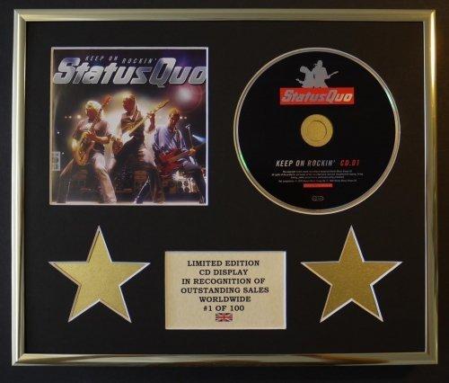 STATUS QUO CD-Darstellung Limitierte Edition COA KEEP ON ROCKIN'