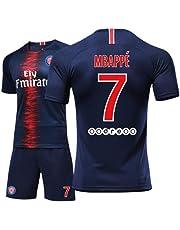 LHWLX Maglia Calcio 2019 Tuta sportivaT-Shirt e Pantaloncini da Calcio, Ragazzo di Football # 7 Uniforme da Calcio per i Tifosi di Calcio Mbappé - Adulti e Bambini