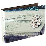 CAIUL Instax Mini Book Album, 50 Pages DIY Photo Album, Anniversary Scrapbook, Wedding Photo Album (Flowers)