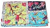 V Vedant Designs Bird Print Patchwork Cotton Kantha