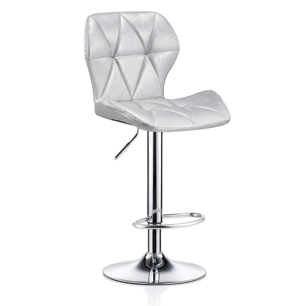 Silver 4860cm ZHAOYONGLI Barstools,Stools Kitchen Bar Stools Adjustable Breakfast Bar Stools Swivel Gas Lift Chrome Footrest and Large Base (color   Green+Imitation Cloth, Size   35  40cm)
