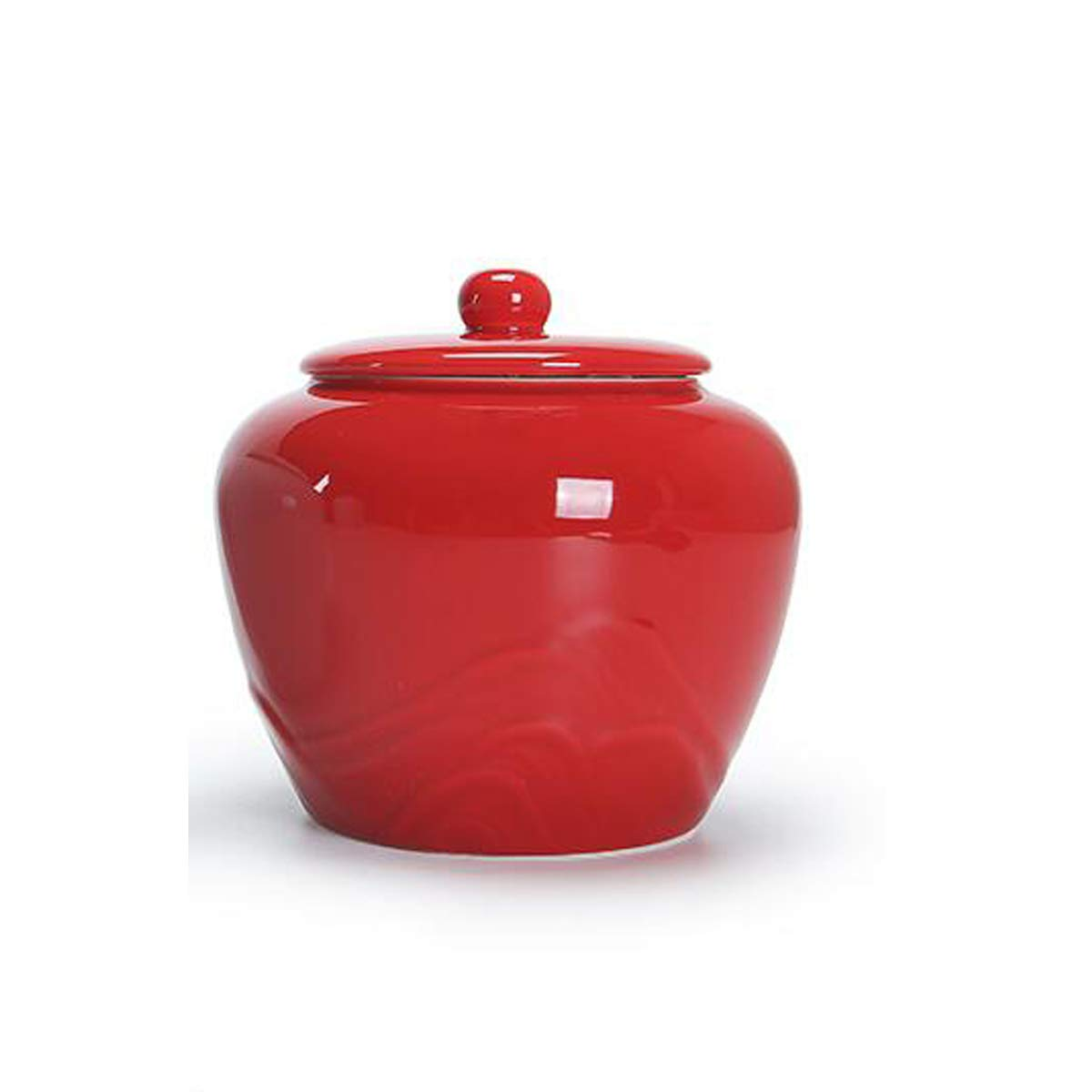 Red 8haowenju Memorials,Pet Urn,Cremation Urns for Pets,Functional Urn,Ceramic Sealed,Moisture Proof,Keepsake Box for Dogs and Cats The Latest Style, Multi-Function (color   Red)