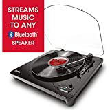 ION Audio Air LP | Vinyl Record Player / Bluetooth Turntable with USB Output for Conversion and Three Playback Speeds – Black Finish