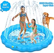 Dillitop Sprinkler for Kids, Splash Pad, Wading Pool and Kiddie Pool, Summer Outdoor Water Play Mat for for Bo