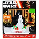 Disney Star Wars Darth Vader and Stormtrooper Air Blown One Piece Inflatable Lawn Decoration