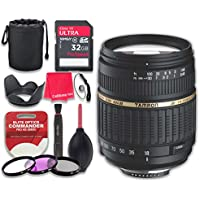 Tamron Auto Focus 18-200mm f/3.5-6.3 XR Di II LD Aspherical (IF) Macro Zoom Lens for Canon with 32GB Ultra Pro Speed Class 10 SDHC Memory Card + 3pc Filter Kit (UV-FLD-CPL) - International Version
