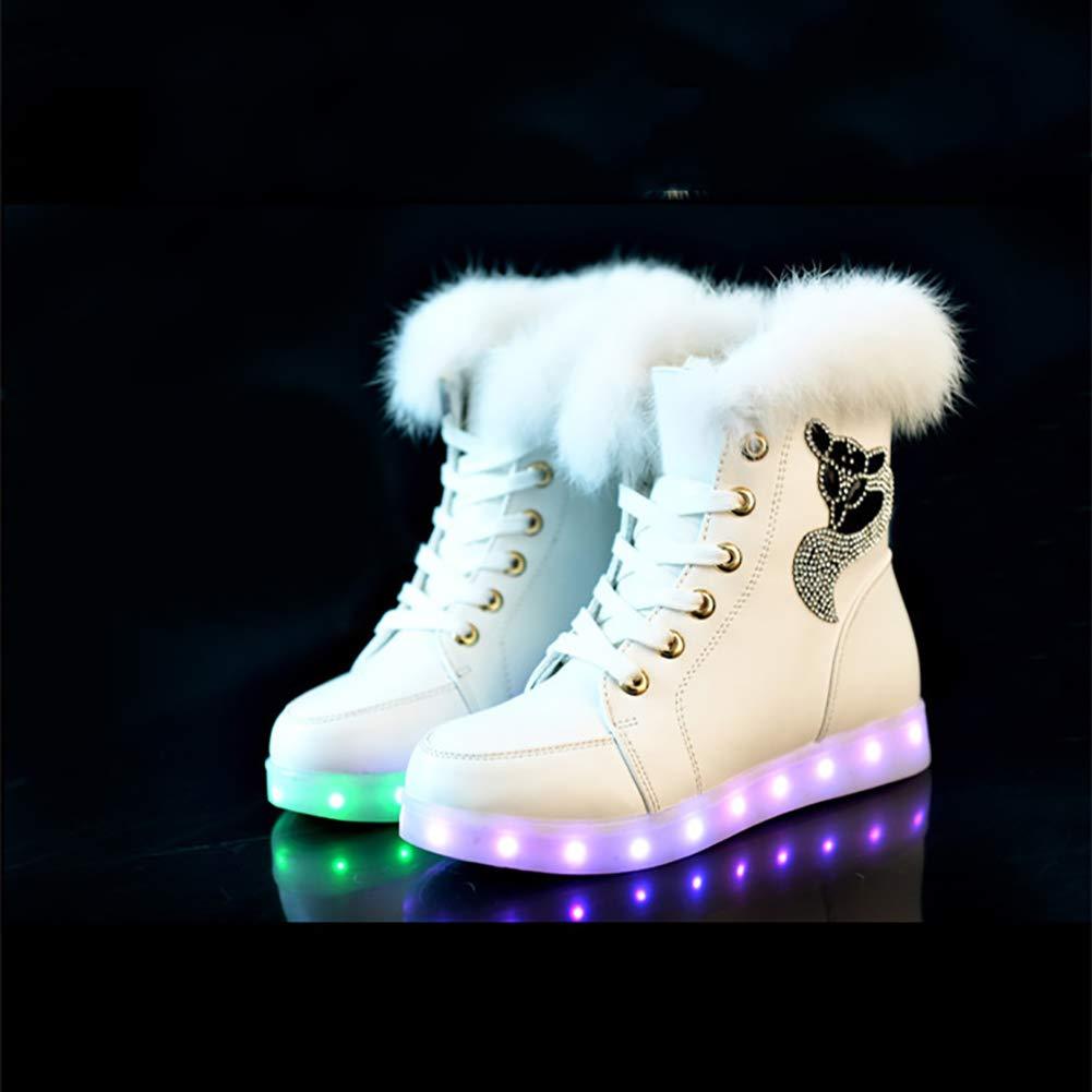 MhC Damenschuhe Comfort LED Schneestiefel Fashion Kurze Plüschstiefel Schuhe Weihnachten, Halloween, Ghost Step Tanzschuhe