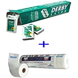 100 Derby Extra Double Edge Razor Blades+Neck Paper