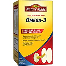 Nature Made Super Omega-3 Fish Oil Full Strength Mini Softgels w. EPA & DHA 60 Ct