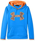 Under Armour Boys Fleece Big Logo Hoodie, Mako Blue (983)/Magma Orange, Youth Small