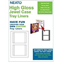 Neato High Gloss Jewel Case Tray Liners – 50 Sheets – Makes 100 Insert Cards Total