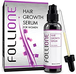 Follione Hair Growth Serum for Women - one month supply. Dermatologically Tested Hair Loss Treatment for Women for Easy Hair Growth.