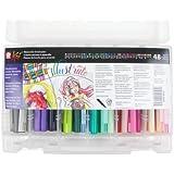 Sakura XBR-48SA 48-Piece Koi Assorted Coloring Brush Pen Set