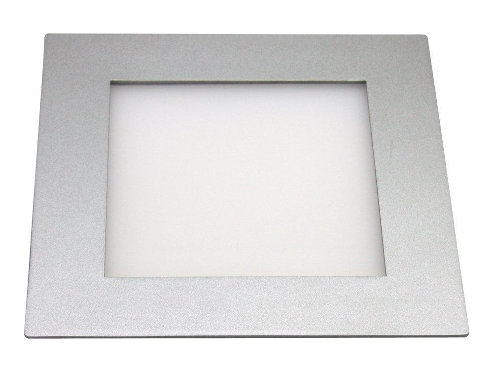 Heitronic 27641 A, Deckenleuchte, Aluminium, 11 W, 20 x 20 x 2,4 cm