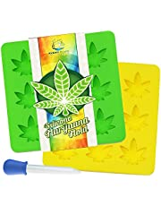 Marijuana Mold Silicone 2 Pack with Bonus Dropper ~ Non-BPA LFGB & FDA Pot Leaf Gummy & Candy Molds - Perfect Size for Party Gummies Cupcake Toppers Ice Soap Chocolate Cookies Butter & Novelty Gifts