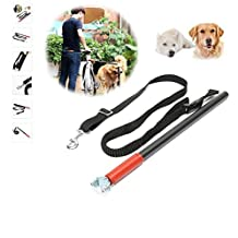 MAN'S BEST FRIENDS-bicycle-dog-leash-for walking-jogging-biking-the best bike attachment for your pet