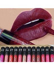 Binmer(TM) 12 PCS Waterproof Lip Gloss Matte Velvet...