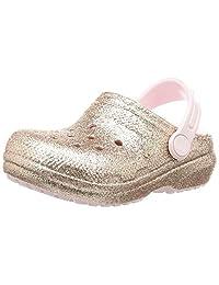 Crocs Kids' Classic Glitter Lined Clog