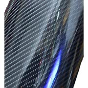 Amazon Lightning Deal 57% claimed: 12''x60'' Premium HIGH GLOSS Black Carbon Fiber Vinyl Wrap Texture DIY Film
