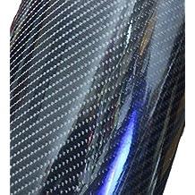 12''x60'' Premium HIGH GLOSS Black Carbon Fiber Vinyl Wrap Texture DIY Film