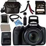 Canon PowerShot SX530 HS Digital Camera 9779B001 + NB-6L Lithium Ion Battery + External Rapid Charger + Sony 128GB SDXC Card + Mini HDMI Cable + Small Case + Memory Card Wallet Bundle