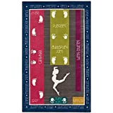 Mohawk Home Aurora Gymnastics Fun 5-Foot x 8-Foot Multicolor Area Rug