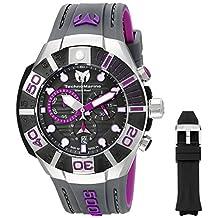 Technomarine Men's TM-515017 Reef Analog Display Swiss Quartz Black Watch