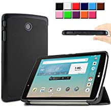 LG G Pad F 8.0 / G Pad II 8.0 Case, Infiland Tri-Fold Slim Shell Stand Case cover for 8-Inch LG G PAD F 8.0 [AT&T V495 /T-Mobile V496 / US Cellular UK495] & G Pad 2 8.0 [V498] Tablet Only (G Pad F 8.0 / G Pad II 8.0, Black)