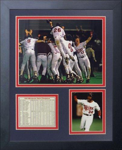 """Legenden Sterben Nie """"1991 Minnesota Twins Champions"""" gerahmtes Foto Collage, 11 x 35,6 cm von Legends Never Die"""