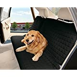 Elegant Comfort - Funda Protectora para Asiento de Coche (Asiento Trasero Completo) para Mascotas, Color Negro