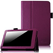 "Fintie Folio Case for Kindle Fire 1st Generation - Slim Fit Stand Leather Cover for Amazon Kindle Fire 7"" Tablet (will only fit Original Kindle Fire 1st Gen - 2011 release, no rear camera), Purple"