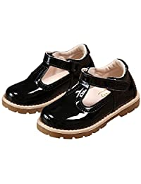 PPXID Toddler Little Girl's British Retro T-Bar Princess Oxford Shoes