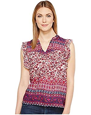 Womens Lucy Peasant Top