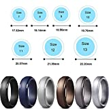 WANTech Silicone Wedding Rings for Men, 6 Pack